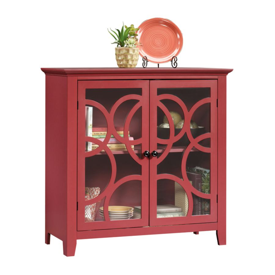 Charmant Sauder Shoal Creek Elise Display Cabinet Plum Red By Office Depot U0026  OfficeMax