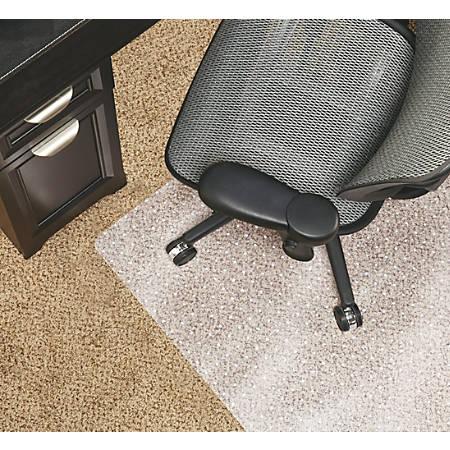 "Realspace® Chair Mat For Medium-Pile Carpet, Rectangular, 36""W x 48""D, Clear"