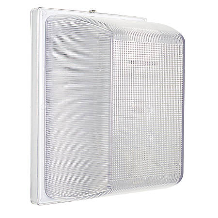Luminance LED Wall Mount Fixture, 10 Watts, 3000K/Warm White, 1100 Lumen, White/Clear Lens