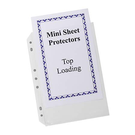 "C-Line® Top-Loading Mini Sheet Protectors, 5 1/2"" x 8 1/2"", Box Of 60"