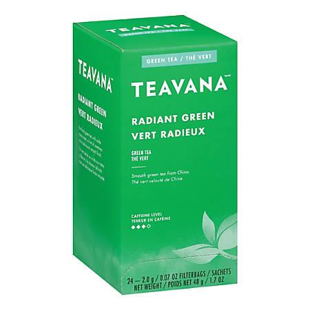 Teavana Radiant Green Tea, 0.07 Oz, Box Of 24 Tea Bags