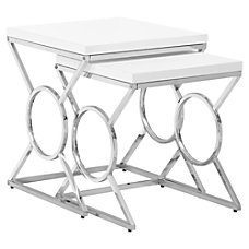Monarch Specialties Nesting Table Set Glossy