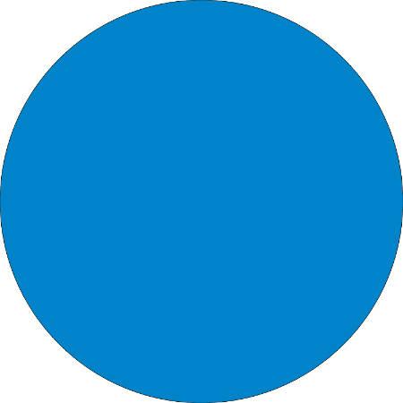 "Removable Round Color Inventory Labels, DL610C, 3/4"" Diameter, Light Blue, Pack Of 500"