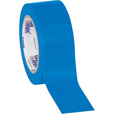 """BOX Packaging Solid Vinyl Safety Tape, 3"""" Core, 2"""" x 36 Yd., Blue, Case Of 3"""