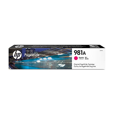 HP PageWide 981A High-Yield Ink Cartridge, Magenta, J3M69A