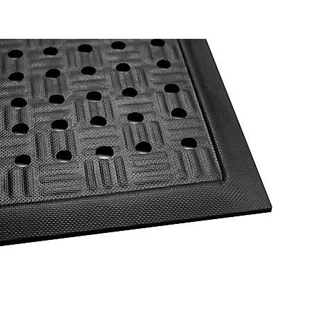 M + A Matting Cushion Station With Holes, 4' x 5 15/16', Black