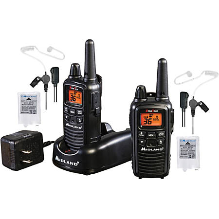 Midland LXT600BB FRS Business Radio Bundle - 36 Radio Channels - FRS - Silent Operation, Hands-free - Nickel Metal Hydride (NiMH)