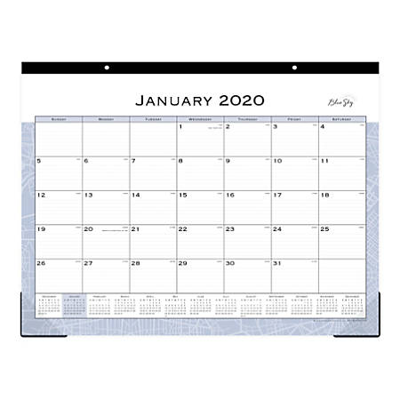 "Blue Sky™ Passages Monthly Desk Pad, 22"" x 17"", January To December 2020, 110397"