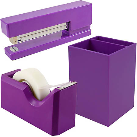 JAM Paper® Trio Desk Set, Purple