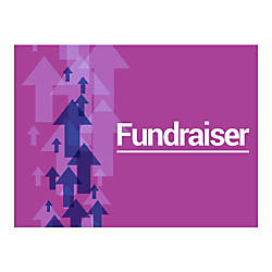 Plastic Sign Fundraiser Purple Horizontal