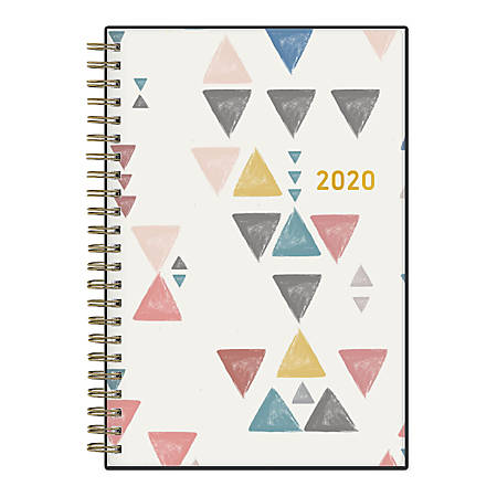 "Blue Sky™ Capitola Weekly/Monthly Wirebound Planner, 5"" x 8"", Multicolor, January To December 2020, 115573"