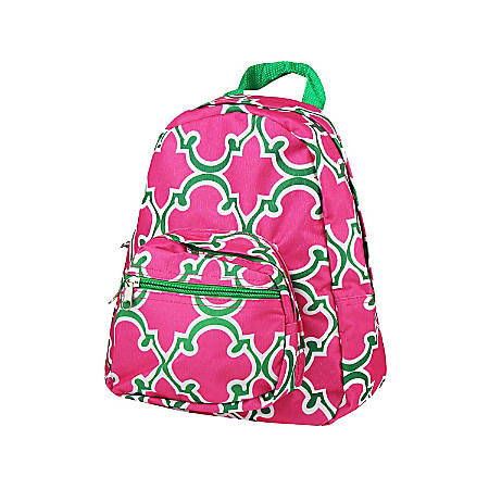 Zodaca Stylish Kids Small Backpack Outdoor School Shoulder, Pink Quatrefoil