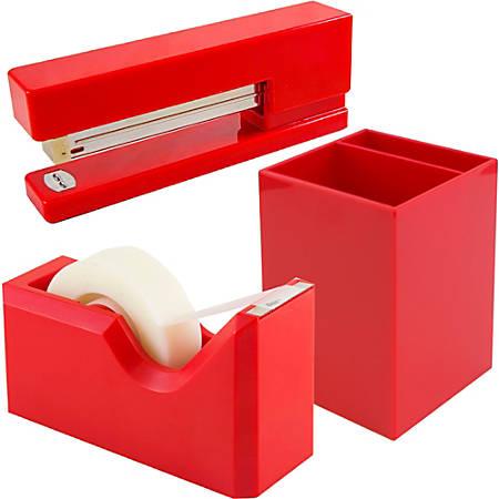 JAM Paper® Trio Desk Set, Red