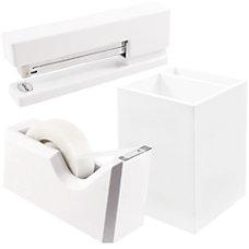 JAM Paper Trio Desk Set White