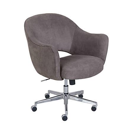 Serta® Valletta Home Office Chair, Dovetail Gray/Chrome