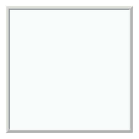 "U Brands Melamine Dry-Erase White Board, 36"" x 36"", White, Silver Aluminum Frame"