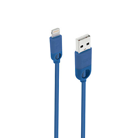 iHome Lightning Dual Strain Relief TPE Cable, 6', Blue, IH-CT1053N