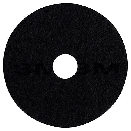 "3M™ 7200 Stripping Floor Pads, 13"" Diameter, Black, Box Of 5 Pads"
