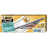 BIC® Xtra Mechanical Pencils, Xtra Precision, 0.5 mm, Gray Barrel, Pack Of 12