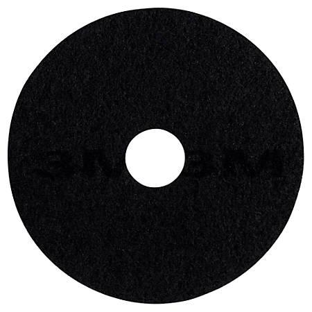 "3M™ 7200 Stripping Floor Pads, 19"", Black, Box Of 5"