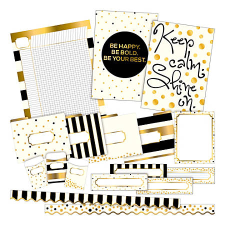 Barker Creek Gold Curated Collection Bulletin Board Set, Multicolor