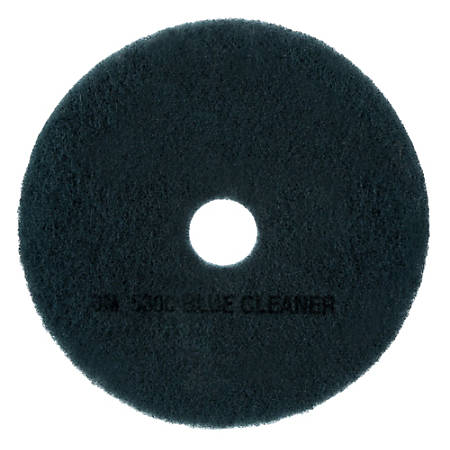 "3M™ 5300 Blue Cleaner Floor Pads, 19"" Diameter, Blue, Box Of 5"