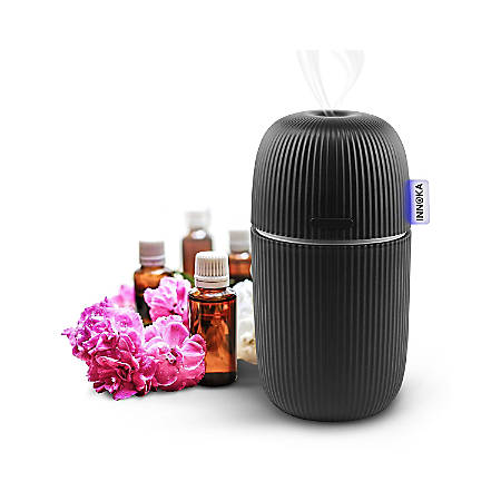 INNOKA Ultrasonic Aroma Fragrance Essential Oil Diffuser, Cool Mist Humidifier With Adjustable Modes, Black