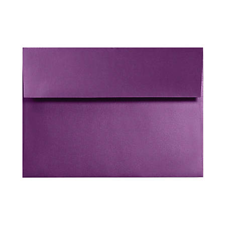 "LUX Invitation Envelopes With Moisture Closure, A1, 3 5/8"" x 5 1/8"", Purple Power, Pack Of 50"
