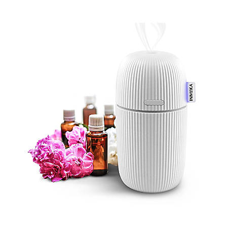 INNOKA Ultrasonic Aroma Fragrance Essential Oil Diffuser, Cool Mist Humidifier With Adjustable Modes, White