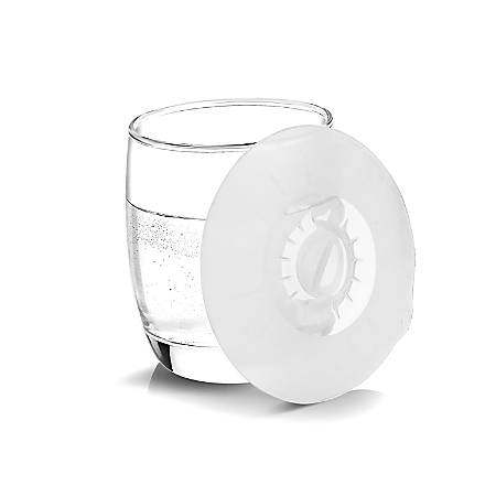 INNOKA Silicone Dust-free Easy Cup Lid Suction Cover And Heatproof Mat, White