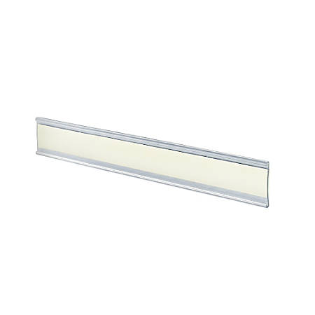 "Azar Displays Adhesive-Back Acrylic Nameplates, 1 1/2"" x 8 1/2"", Clear, Pack Of 10"