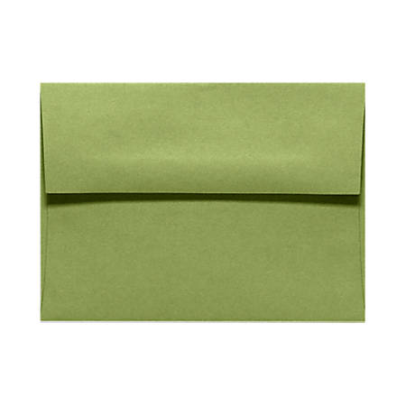 "LUX Invitation Envelopes With Moisture Closure, A1, 3 5/8"" x 5 1/8"", Avocado Green, Pack Of 500"