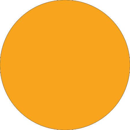 "Removable Round Color Inventory Labels, DL610H, 3/4"" Diameter, Fluorescent Orange, Pack Of 500"