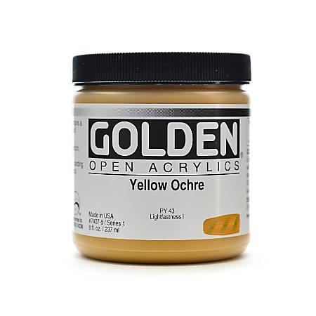 Golden OPEN Acrylic Paint, 8 Oz Jar, Yellow Ochre