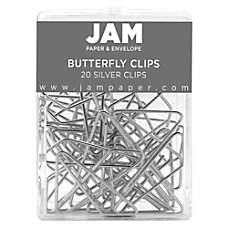 JAM Paper Butterfly Clips Large 12