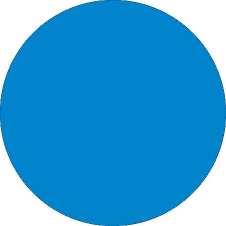 "Removable Round Color Inventory Labels, DL613C, 2"" Diameter, Light Blue, Pack Of 500"