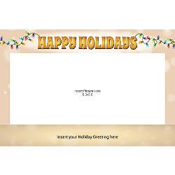 Flat Photo Greeting Card Happy Holiday
