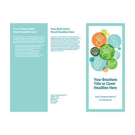 Customizable Trifold Brochure, Vegetables
