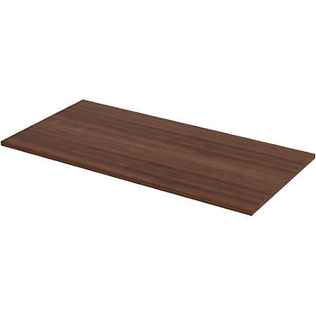 """Lorell Quadro Straight Edge Walnut Tabletop - Walnut Rectangle Top - 60"""" Table Top Width x 30"""" Table Top Depth x 1"""" Table Top Thickness - Assembly Required"""
