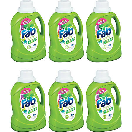 AJAX Fab Spring Magic Ultra Laundry Detergent - Concentrate - 0.39 gal (49.71 fl oz) - 6 / Carton - Green