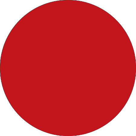 "Removable Round Color Inventory Labels, DL612A, 1 1/2"" Diameter, Red, Pack Of 500"