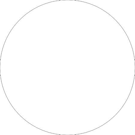 """Removable Round Color Inventory Labels, DL613E, 2"""" Diameter, White, Pack Of 500"""