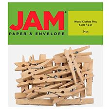 JAM Paper Wood Clip Clothespins 2
