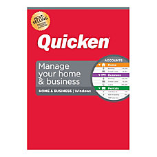 Quicken Home Business Personal Finance Software