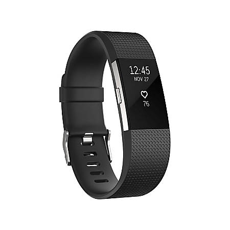 Zodaca Replacement Wristband With Clasp For Fitbit Charge 2, Black