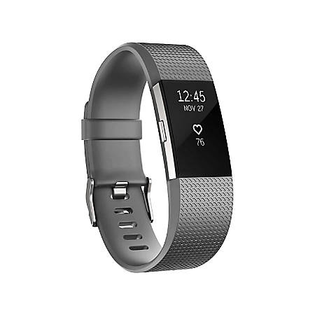 Zodaca Replacement Wristband With Clasp For Fitbit Charge 2, Gray