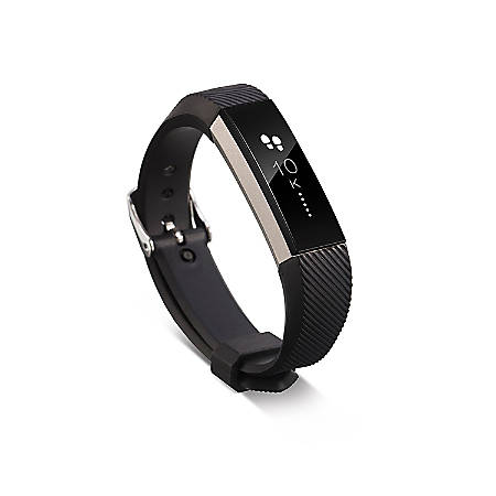 Zodaca Replacement Wristband With Clasp For Fitbit Alta/Alta HR, Black