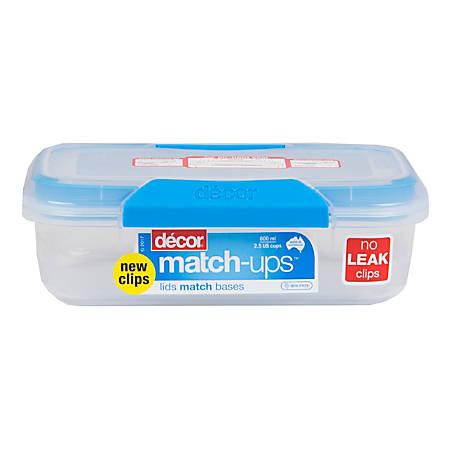Décor Match-ups Food Storage Container, 600 mL, Blue