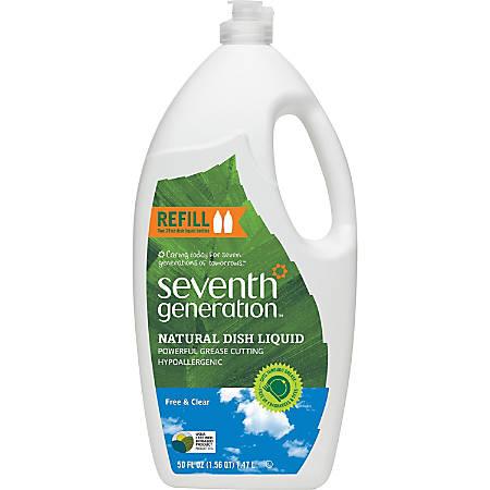 Seventh Generation Free/Clear Natural Dish Liquid - Liquid - 0.20 gal (25 fl oz) - Free & Clear Scent - 6 / Carton