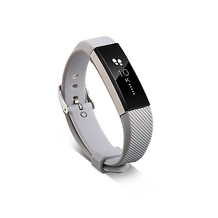 Zodaca Replacement Wristband With Clasp For Fitbit Alta/Alta HR, Gray
